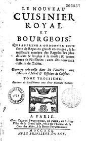Le Nouveau cuisinier royal et bourgeois... [Par Massialot]. Tome troisieme, Servant de Supplément aux deux premiers Tomes