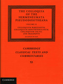 The Colloquia of the Hermeneumata Pseudodositheana Book