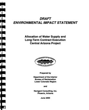 Allocation of Water Supply and Long term Contract Execution  Central Arizona Project