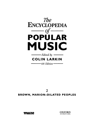 The Encyclopedia of Popular Music: Brown, Marion - Dilated Peoples