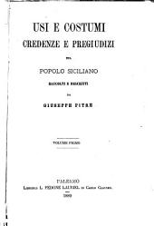 Biblioteca delle tradizioni popolari siciliane: Volume 14