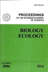 Proceedings of the Estonian Academy of Sciences  Biology and Ecology PDF