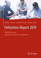 Fehlzeiten Report 2019 PDF