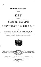 Key to the Modern Persian Conversation-grammar
