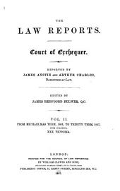 The Law Reports. Court of Exchequer: From Michaelmas Term, 1865, to Trinity Term, 1875, Volume 2