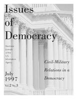 Civil Military Relations in a Democracy PDF