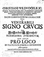 Sacer Christianorum character sive de venerabili signo crucis. - Jenae, Müller 1697