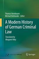 A Modern History of German Criminal Law PDF