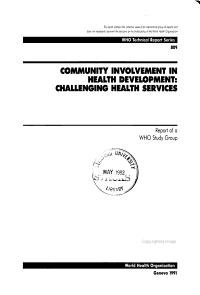 Community Involvement in Health Development PDF
