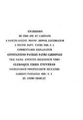 Enchiridion de fide, spe et caritate S. Aurelii Augustini episcopi Hippon. a Joan. Bapt Faure S.J.
