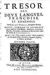 Tresor Des Deux Langues, Françoise Et Espagnole