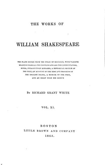 The Works of William Shakespeare  Tragedies PDF