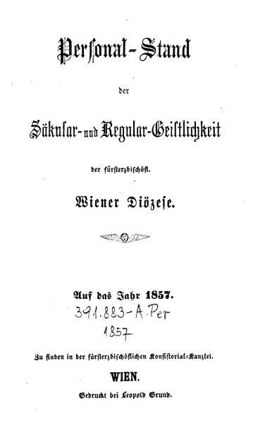 Personalstand der Sekular  und Regular Geistlichkeit der F  rsterzbisch  flichen Wiener Di  zese PDF