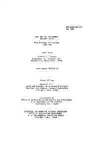 Mine Drainage Bibliography  1929 1980 PDF