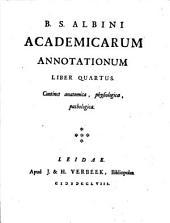 B.S. Albini Academicarum annotationum. Liber primus-\octavus]: Volume 4