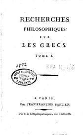 Recherches philosophiques sur les Grecs: Volume6