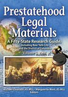 Prestatehood Legal Materials PDF