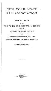 Proceedings and Committee Reports: Volume 38