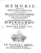 Memorie degli scrittori Cosentini