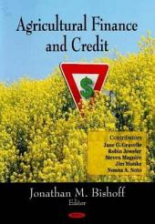 Agricultural Finance and Credit