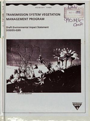 Transmission System Vegetation Management Program PDF