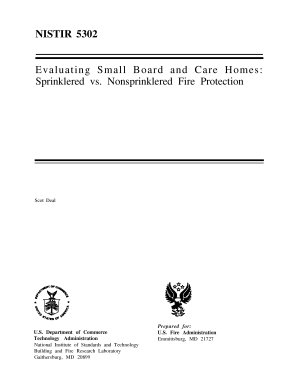 Evaluating Small Board and Care Homes  Sprinklered vs  Nonsprinklered Fire Protection PDF