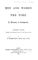 Men and Women of the Time PDF