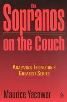 The Sopranos on the Couch PDF