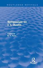Symposium on J. L. Austin (Routledge Revivals)