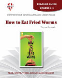 How to Eat Fried Worms Teacher Guide Book