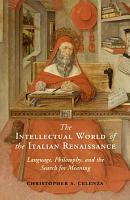The Intellectual World of the Italian Renaissance PDF