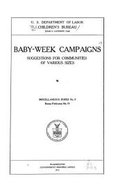 Baby-week Campaigns: Suggestions for Communities of Various Sizes