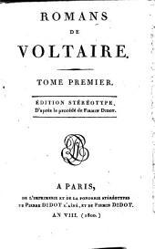Romans de Voltaire: Volume1