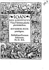 Ioannes Lodovicvs Viues, Valentinus, aduersus pseudodialecticos: Eivsdem Pompeius fugiens