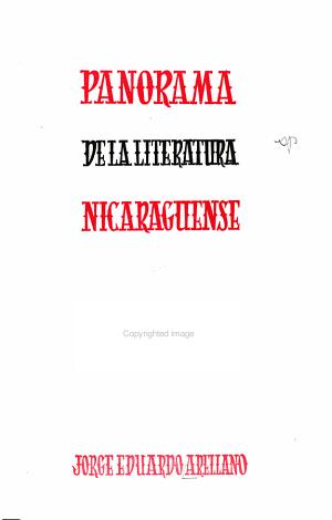 Panorama de la literatura nicarag  ense PDF