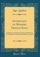 Anthology of Modern French Song PDF