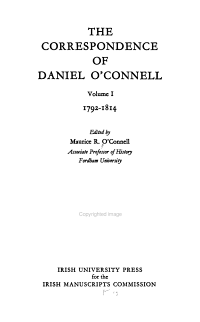 The Correspondence of Daniel O Connell