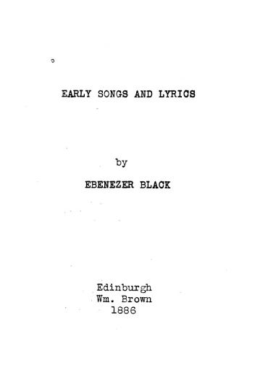 Early Songs and Lyrics PDF