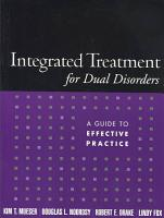 Integrated Treatment for Dual Disorders PDF