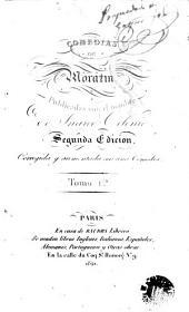 Comedias de Moratin: publicadas con el nombre de Inarco Celenio
