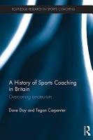 A History of Sports Coaching in Britain PDF