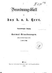 Verordnungsblatt für das k. U. K. Heer: Normal-Verodnungen, Band 39