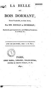 La belle au bois dormant: féerie-vaudeville en deux actes