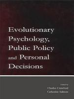 Evolutionary Psychology  Public Policy and Personal Decisions PDF