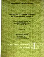 Investigation of Computer Techniques for Radar Landmass Simulation PDF