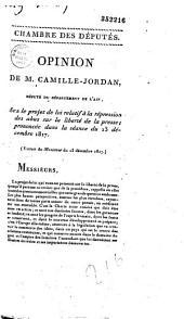 Opinion.... sur le projet de loi relatif à la répression des abus de la presse, prononcée dans la séance du 13 décembre 1817