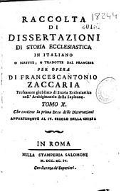 Raccolta di dissertazioni di storia ecclesiastica in italiano