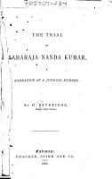 The Trial of Maharaja Nanda Kumar PDF