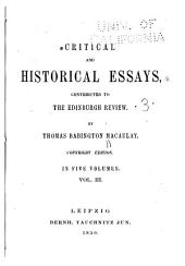 Critical and Historical Essays: Lord Bacon. Sir William Temple. Gladstone on church and state