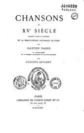 Chansons du XVe siècle